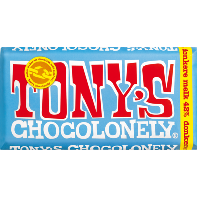 Tony's Chocolonely 42% Dark  Milk Chocolate