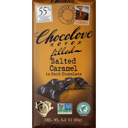 Chocolove Chocolove Salted Caramel 55% Dark Chocolate