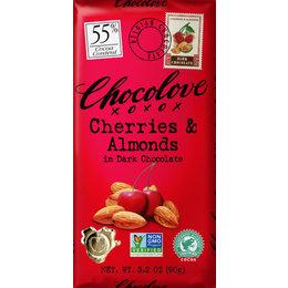 Chocolove Cherries & Almonds 55% Dark Chocolate