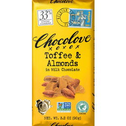 Chocolove Toffee & Almonds 33% Chocolate