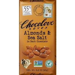 Chocolove Almonds & Sea Salt 55% Dark Chocolate