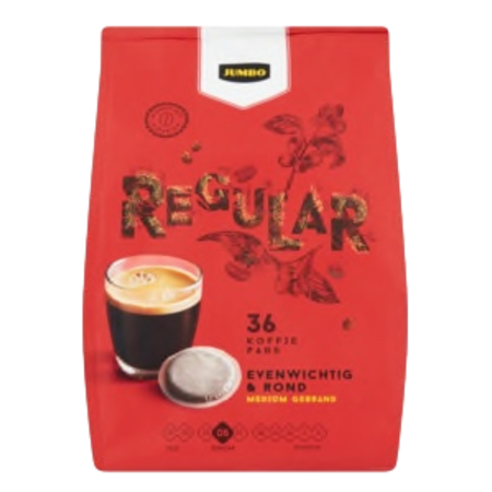 Jumbo Regular Roast Coffee Pods 36 Count