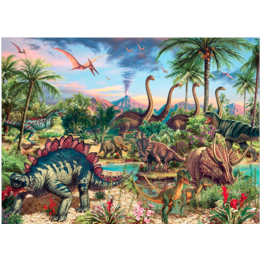 Prehistoric Party Family Puzzle