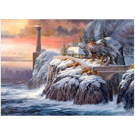 Winter Lighthouse Puzzle 1000pc