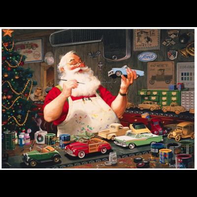 Santa Painting Cars Puzzle 1000pc