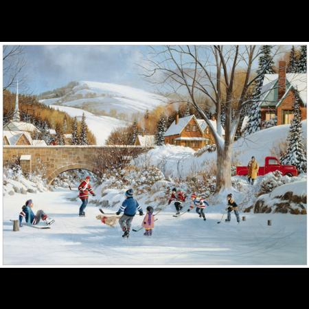Hockey On Frozen Lake Puzzle 1000pc
