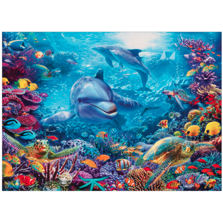 Dolphins at Play Puzzle 1000pc