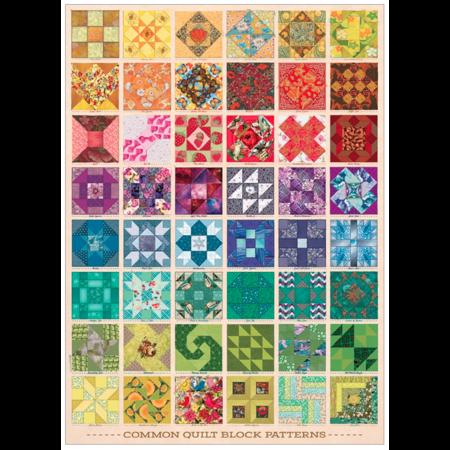 Common Quilt Blocks Puzzle 1000pc