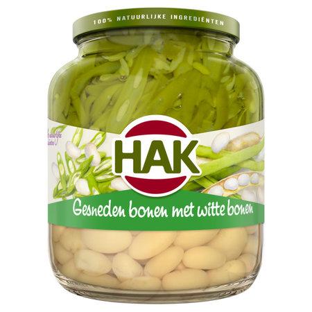 Hak Sliced Green Beans & White Beans 720ml