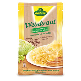Kuhne Wine Sauerkraut Pouch 500g