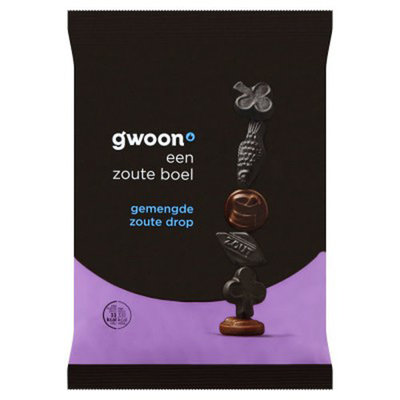 Gwoon Assorted Salty Licorice 400g