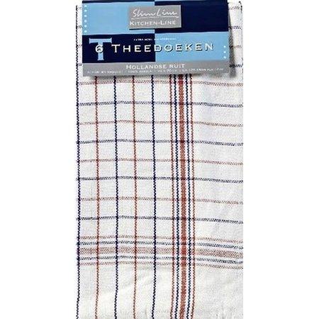 Red & Blue Square Tea Towel