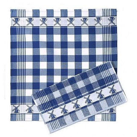 Hand Towel Blue Windmills Twentse