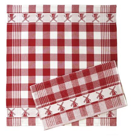 Hand Towel Red Windmills Twentse