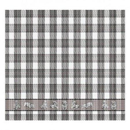 Tea Towel Dogs Grey DDDDD