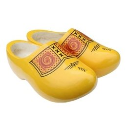 Yellow Wooden Shoes 22cm