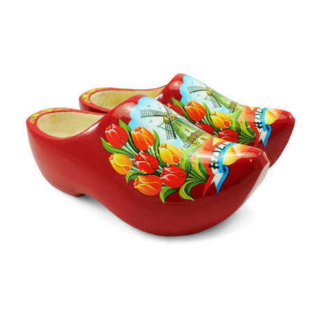 Red Windmill Wooden Shoes 27cm