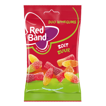 Red Band Sweet and Sour Winegums 166g