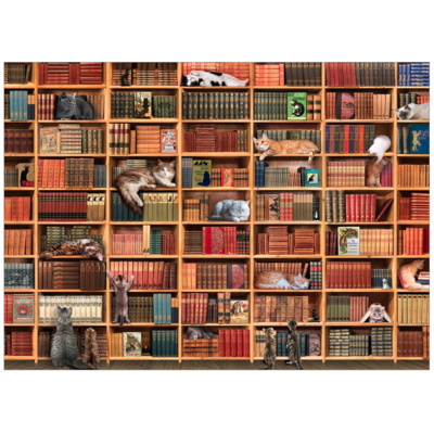 The Cat Library Puzzle 1000pc