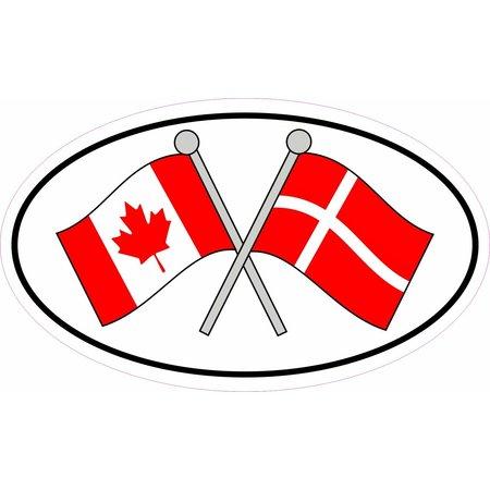 Canada & Denmark Sticker
