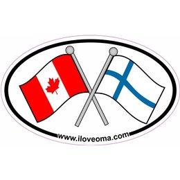 Canada & Finland Sticker