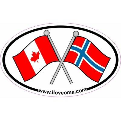 Canada & Norway Sticker