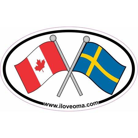 Canada & Sweden Sticker