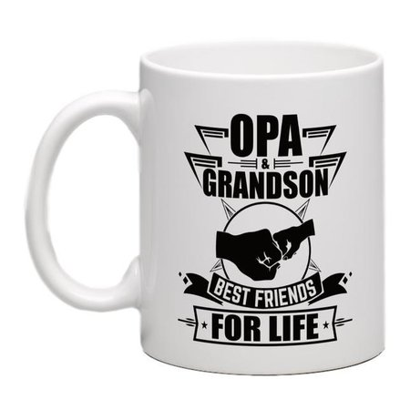 OPA & GRANDSON BEST FRIENDS FOR LIFE MUG