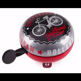 Bike Bell Amsterdam Black & Red Large