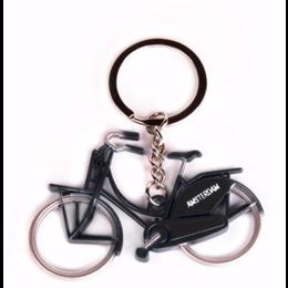 Black Bicycle Keychain