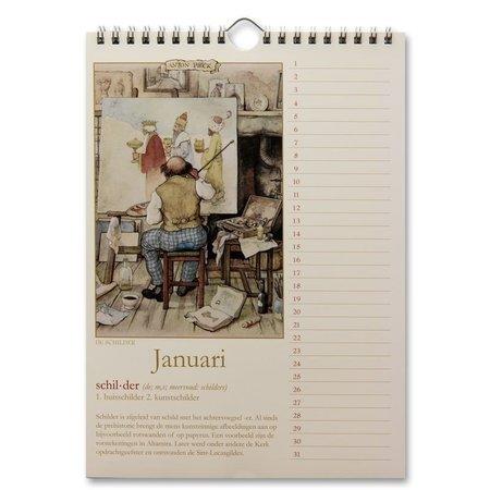 Anton Pieck Perpetual Birthday Calendar Oude