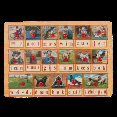 Children's Wooden Puzzle Aap Noot Mies