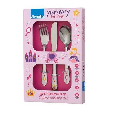 3 Piece Cutlery Set Princess