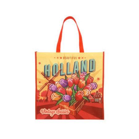 Vintage Holland Tulip  Grocery Bag