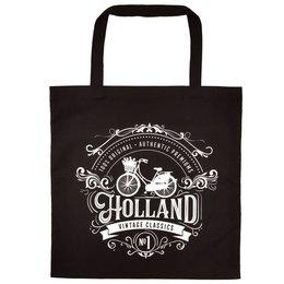 Vintage Holland Shopping Bag (Black)