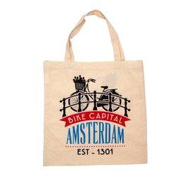 Bike Capital Amsterdam Shopping Bag (Cotton)