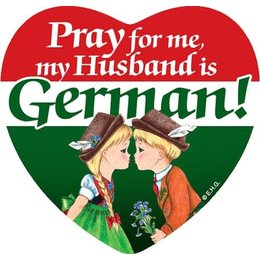 Pray for me my husband is German! Magnetic Tile