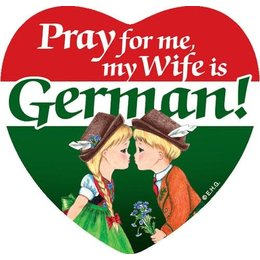 Pray for me my wife is German! Magnetic Tile