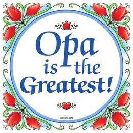 Opa Is The Greatest! Flowers Magnet