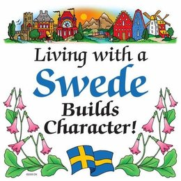 Living with a Swede builds character! Magnet