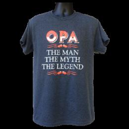 OPA THE MAN THE MYTH THE LEGEND (Grey) Shirt