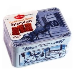 Hellema Delft Blue Tin Filled With Speculaas 135g