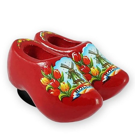 Red Wooden Shoes Magnet