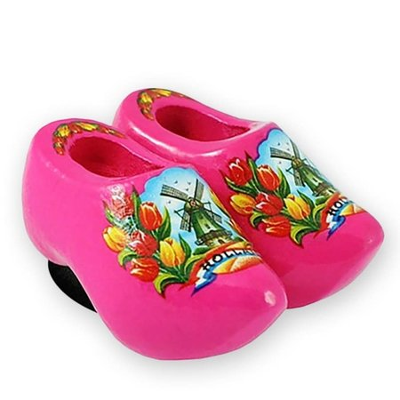 Pink Wooden Shoes Magnet