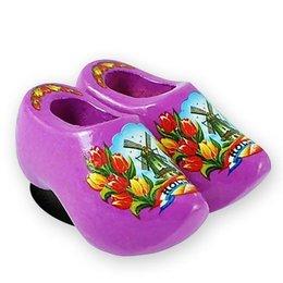Purple Wooden Shoes Magnet
