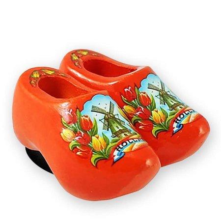Orange Wooden Shoes Magnet