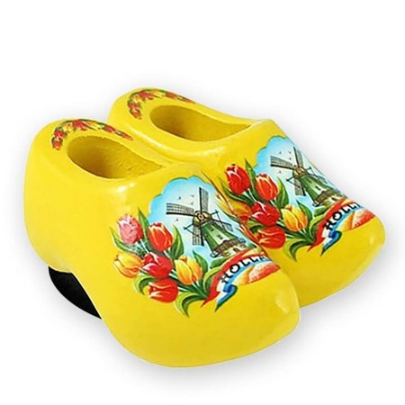Yellow Wooden Shoes Magnet
