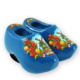 Blue Wooden Shoes Magnet