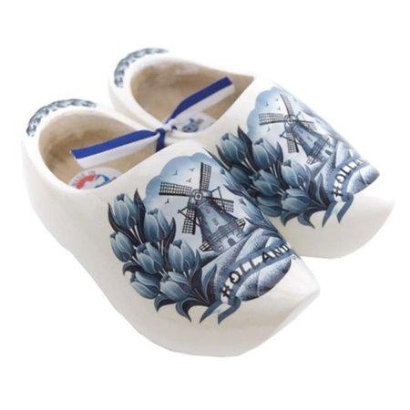Delft Blue Tulips Wooden Shoes Magnet