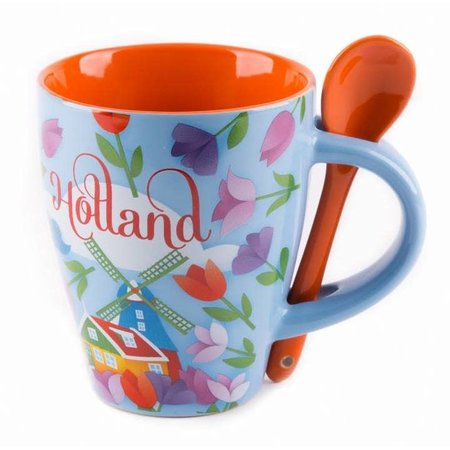 Holland Tulip Mug with Spoon